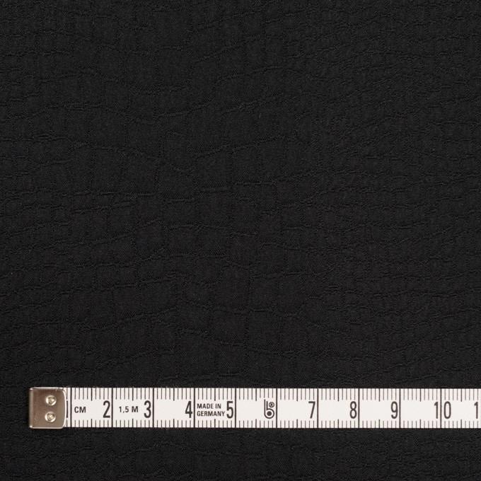 ポリエステル×クロコ(ブラック)×二重織ジャガード イメージ4