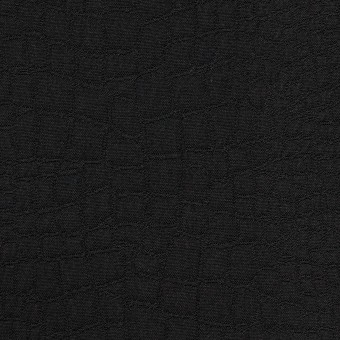 ポリエステル×クロコ(ブラック)×二重織ジャガード