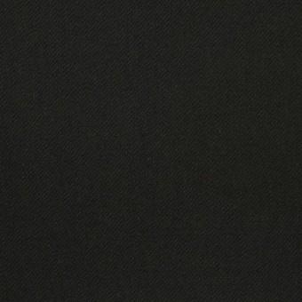 コットン&ポリウレタン×無地(ブラック)×サージストレッチ_全3色_イタリア製