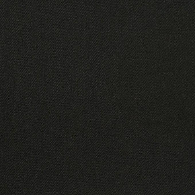 コットン&ポリウレタン×無地(ブラック)×サージストレッチ_全3色_イタリア製 イメージ1