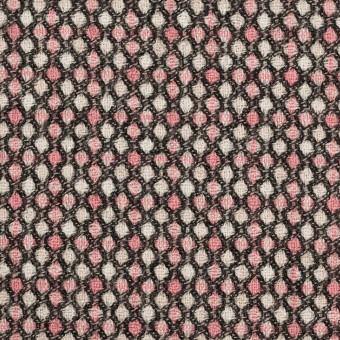 ウール×ドット(ピンク&ブラック)×ジャガード_全2色 サムネイル1