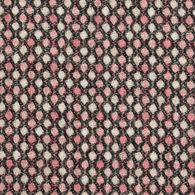 ウール×ドット(ピンク&ブラック)×ジャガード_全2色 イメージ1