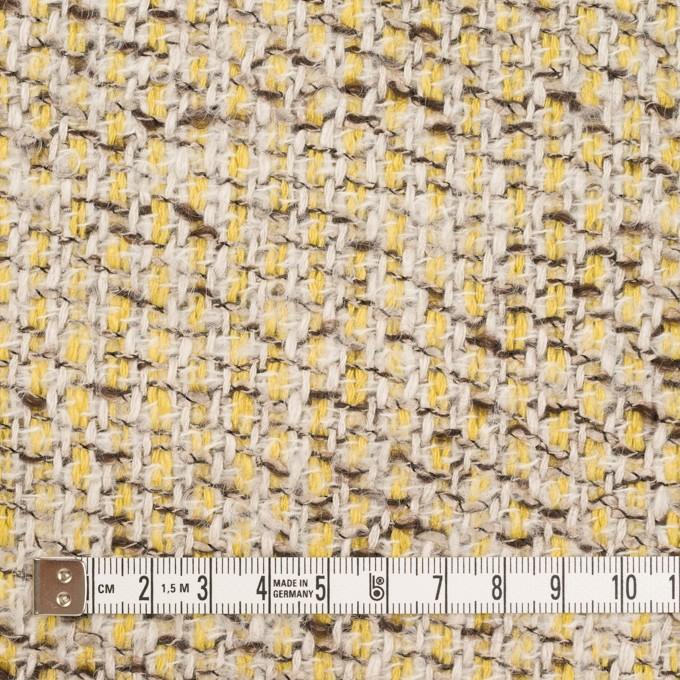 コットン&アクリル混×ミックス(レモン&アイボリー)×ファンシーツイード_全2色 イメージ4
