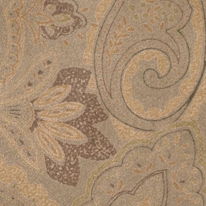 ポリエステル×ペイズリー(カーキ&ゴールド)×スエードかわり織 イメージ1