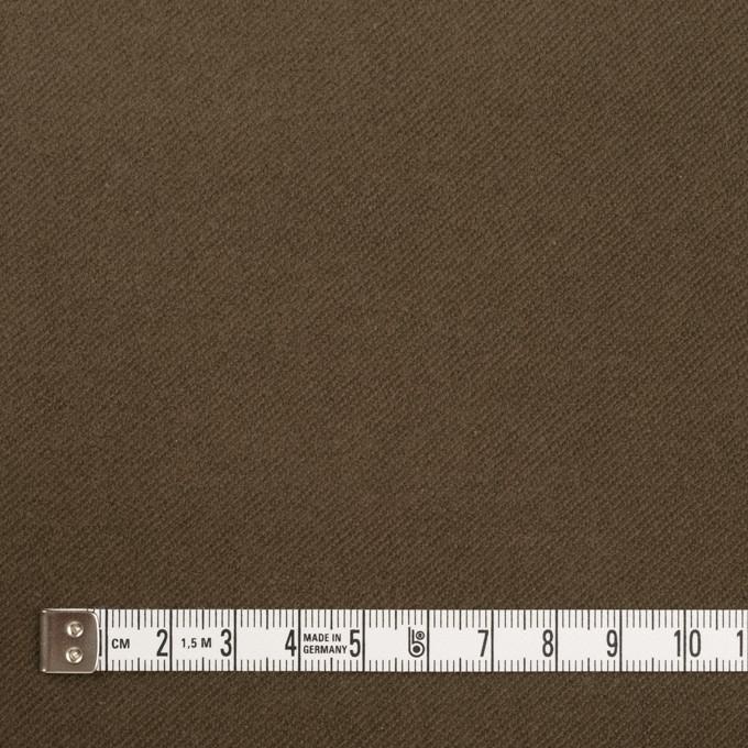 コットン&ポリウレタン×無地(カーキブラウン)×モールスキン・ストレッチ_全3色 イメージ4