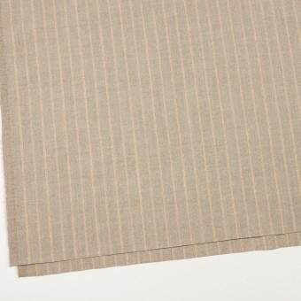 ウール&ポリウレタン混×ストライプ(グレイッシュベージュ)×サージジャガード・ストレッチ サムネイル2