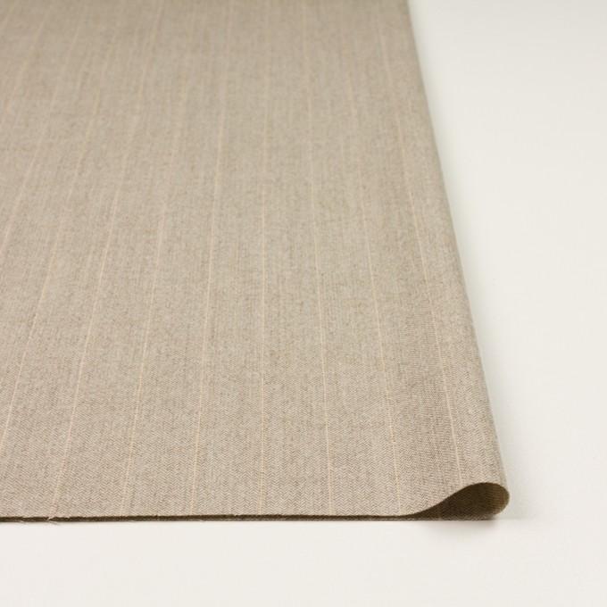 ウール&ナイロン混×ストライプ(グレイッシュベージュ)×ヘリンボーン・ストレッチ イメージ3