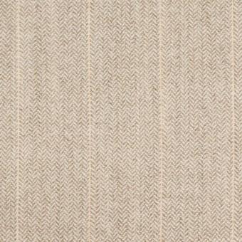 ウール&ナイロン混×ストライプ(グレイッシュベージュ)×ヘリンボーン・ストレッチ
