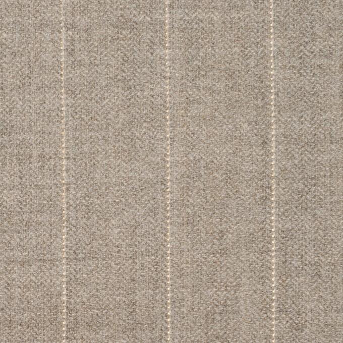 ウール&ナイロン混×ストライプ(ベージュグレー)×ヘリンボーン・ストレッチ イメージ1