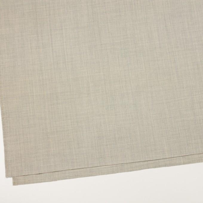 ウール&ナイロン混×無地(ライトグレー)×サージストレッチ イメージ2