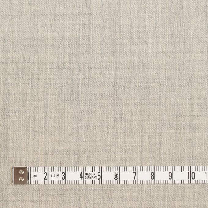 ウール&ナイロン混×無地(ライトグレー)×サージストレッチ イメージ4