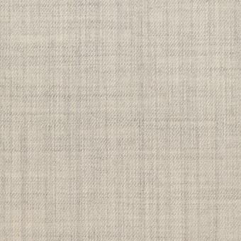 ウール&ナイロン混×無地(ライトグレー)×サージストレッチ