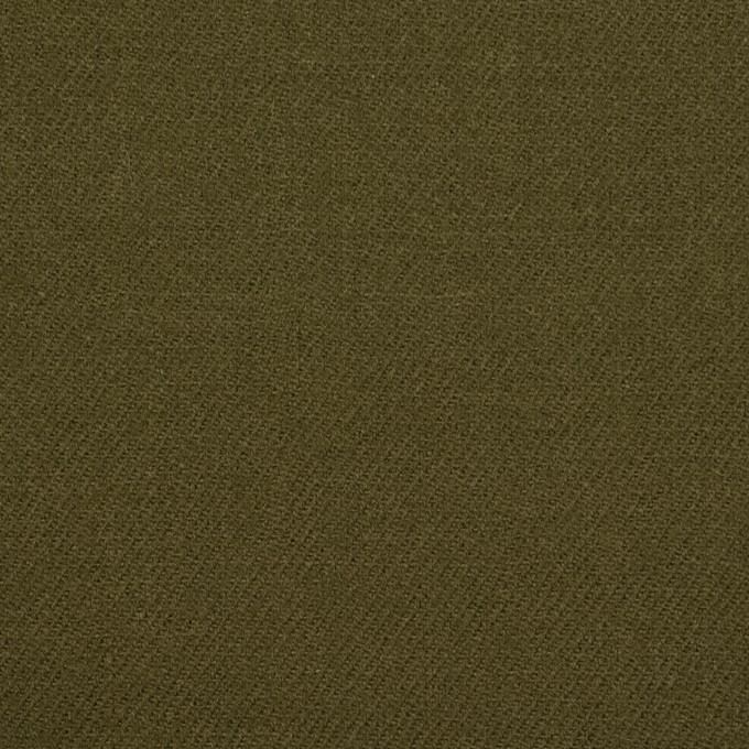 ウール×無地(カーキグリーン)×サージ イメージ1