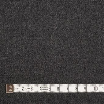ウール×無地(チャコールグレー)×サキソニー サムネイル4