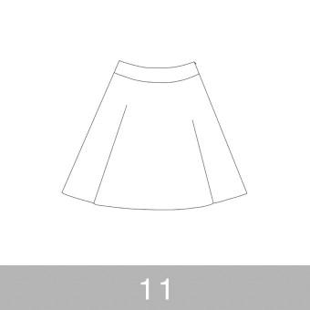 オリジナルパターン#017_ヨーク切替フレアスカート_11号