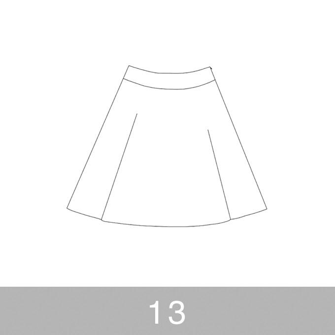 オリジナルパターン#017_ヨーク切替フレアスカート_13号 イメージ1