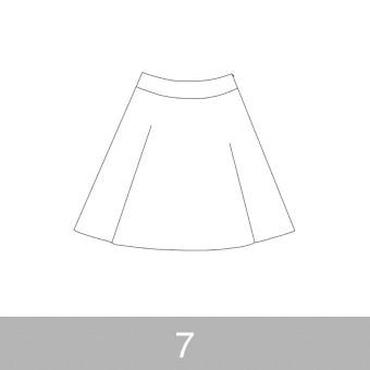 オリジナルパターン#017_ヨーク切替フレアスカート_7号 サムネイル1