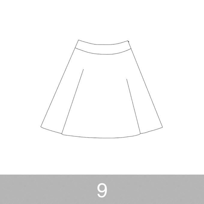 オリジナルパターン#017_ヨーク切替フレアスカート_9号 イメージ1