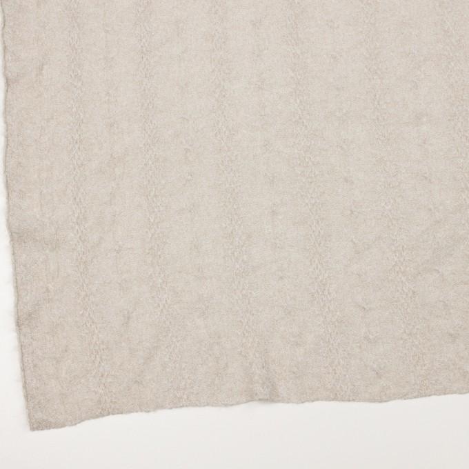 ウール&ナイロン×無地(グレイッシュベージュ)×ジャガードニット イメージ2