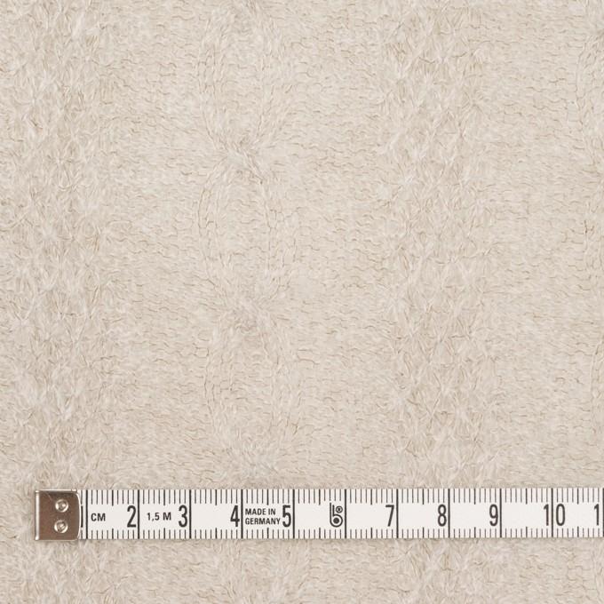 ウール&ナイロン×無地(グレイッシュベージュ)×ジャガードニット イメージ4