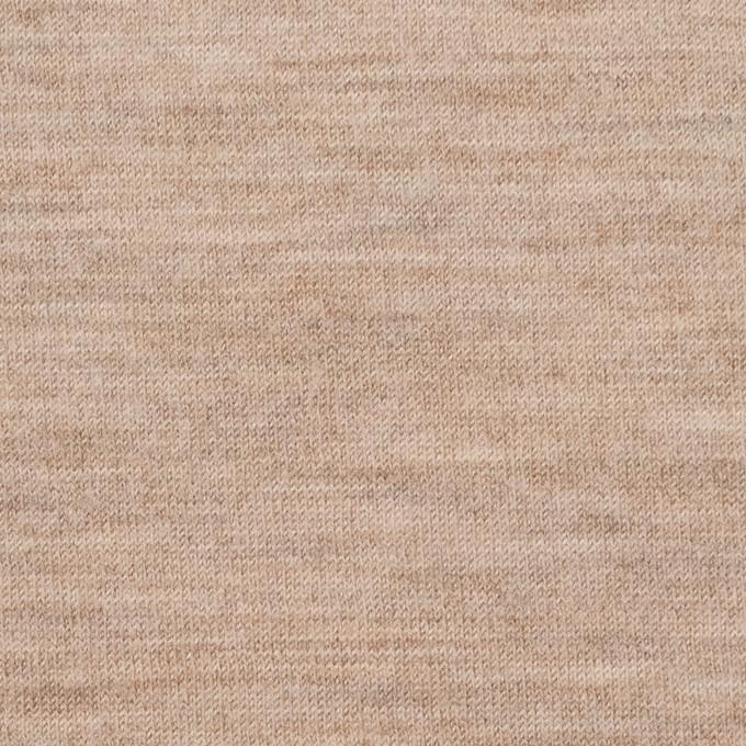 ウール&ナイロン×無地(オートミール)×天竺ニット イメージ1