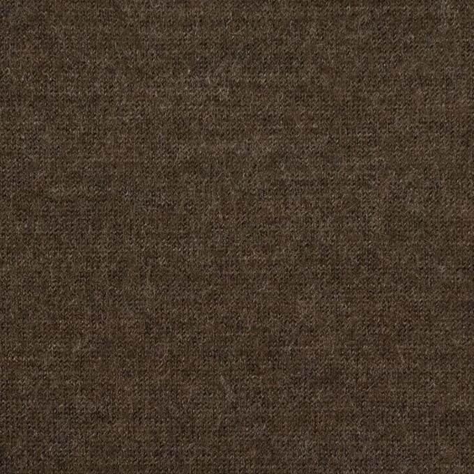 ウール&ナイロン×無地(アッシュブラウン)×天竺ニット イメージ1