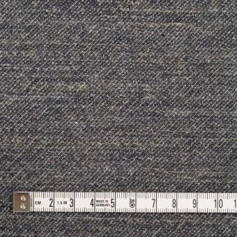 ウール&リネン×ミックス(アッシュネイビー)×厚サージ_全2色 サムネイル4