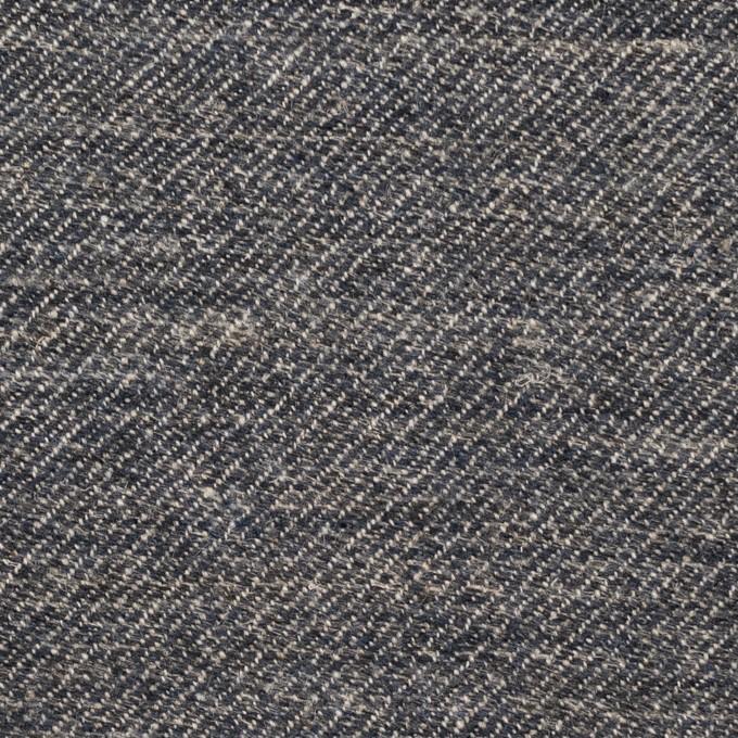 ウール&リネン×ミックス(アッシュネイビー)×厚サージ_全2色 イメージ1