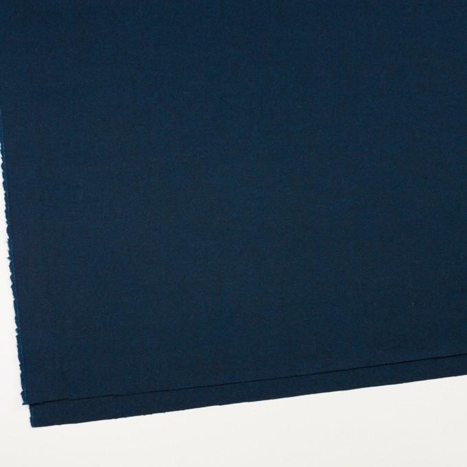ウール×無地(ミッドナイトブルー)×ツイード イメージ2