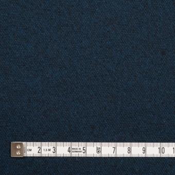 ウール×無地(ミッドナイトブルー)×ツイード サムネイル4