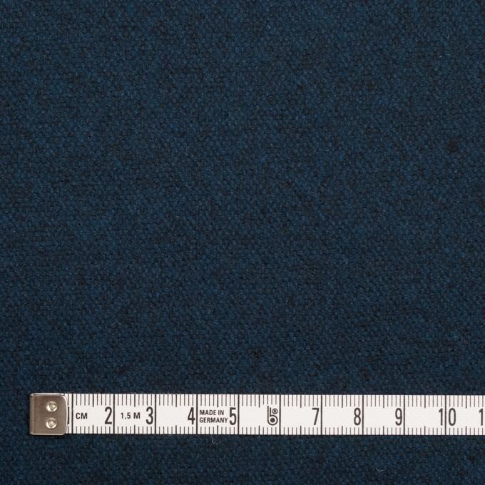 ウール×無地(ミッドナイトブルー)×ツイード イメージ4