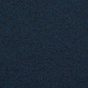ウール×無地(ミッドナイトブルー)×ツイード