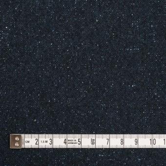 ウール&ナイロン混×無地(ミッドナイトブルー)×ツイード サムネイル4
