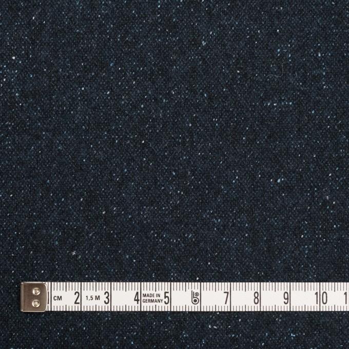 ウール&ナイロン混×無地(ミッドナイトブルー)×ツイード イメージ4