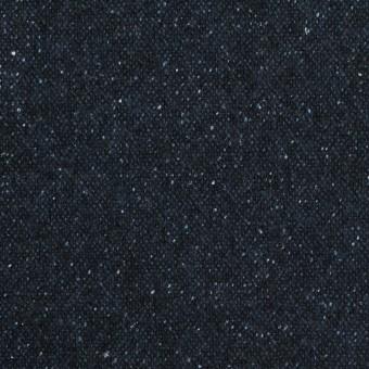 ウール&ナイロン混×無地(ミッドナイトブルー)×ツイード