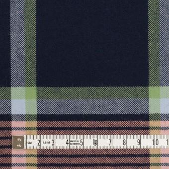 ウール×チェック(ネイビー、ピーチ&ミントグリーン)×サージ_全2色 サムネイル4