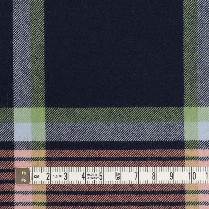 ウール×チェック(ネイビー、ピーチ&ミントグリーン)×サージ_全2色 イメージ4