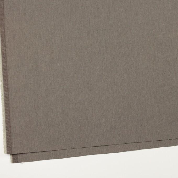 コットン&ナイロン混×無地(アッシュブラウン)×ヘリンボーン・ストレッチ_スイス製 イメージ2
