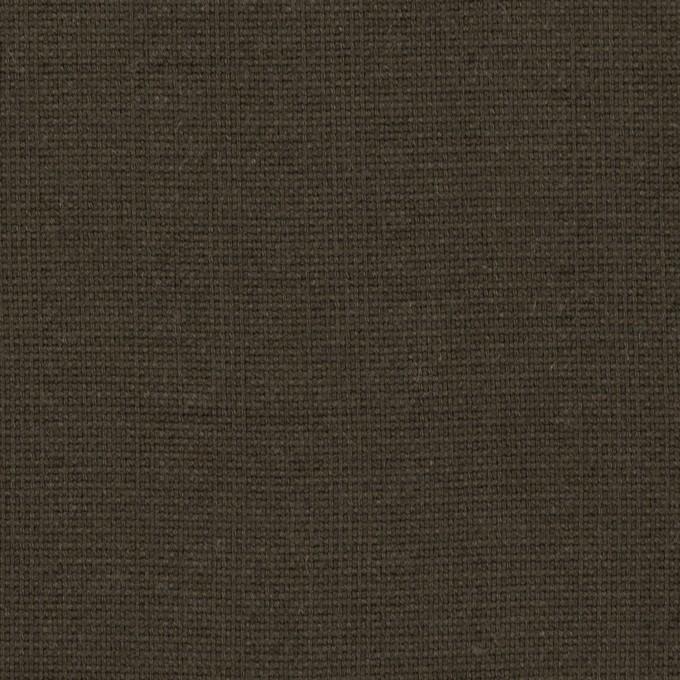 コットン&ポリウレタン×無地(アッシュカーキブラウン)×キャンバス・シャーリング イメージ1