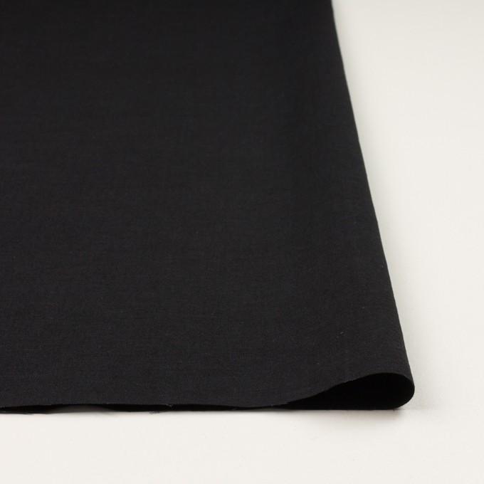 ウール&リネン×無地(ブラック)×サージ イメージ3