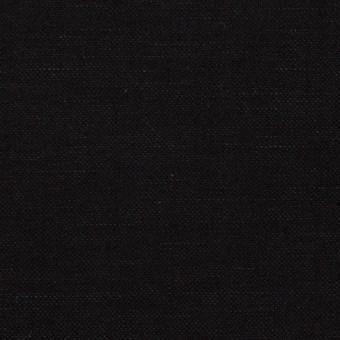 ウール&リネン×無地(ブラック)×サージ