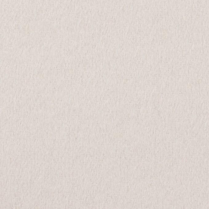 ウール×無地(パールグレー)×フラノ(フランネル) イメージ1