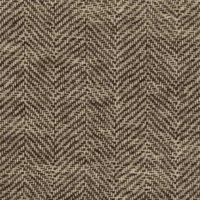 ウール×ミックス(ブラウン)×ヘリンボーン・ガーゼ_全2色 イメージ1