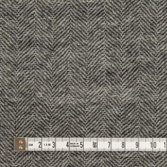 ウール×ミックス(ブラック)×ヘリンボーン・ガーゼ_全2色 サムネイル4