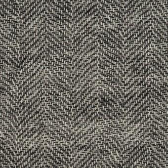 ウール×ミックス(ブラック)×ヘリンボーン・ガーゼ_全2色