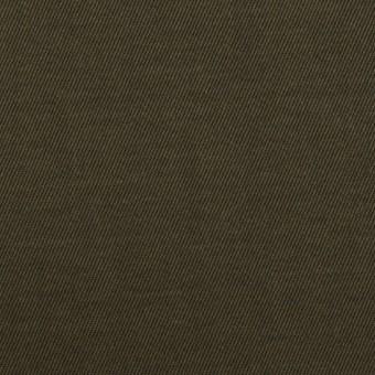 コットン×無地(カーキグリーン)×チノクロス_全2色_イタリア製