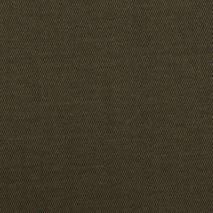 コットン×無地(カーキグリーン)×チノクロス_全2色_イタリア製 イメージ1