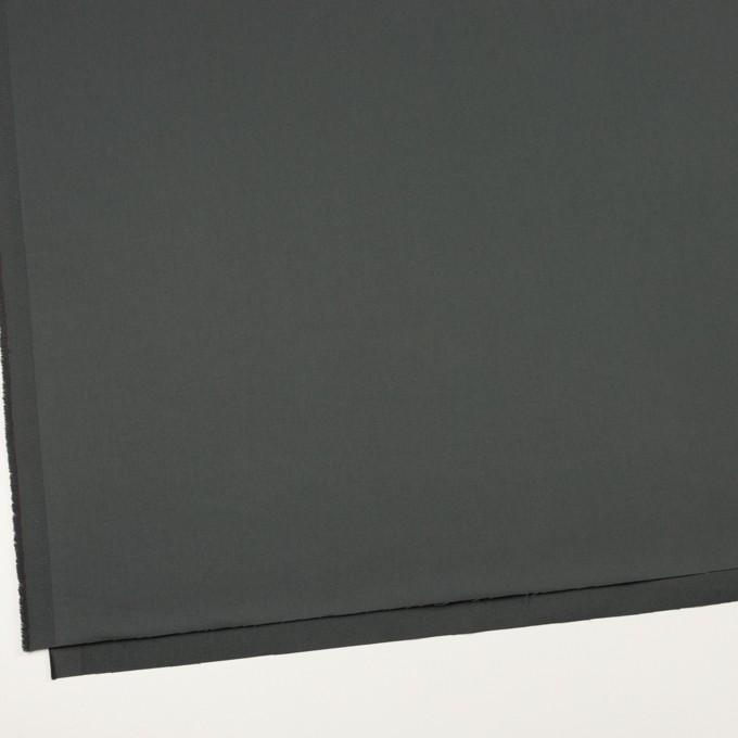 コットン&ポリウレタン×無地(スレートグレー)×サテンストレッチ_全2色_イタリア製 イメージ2