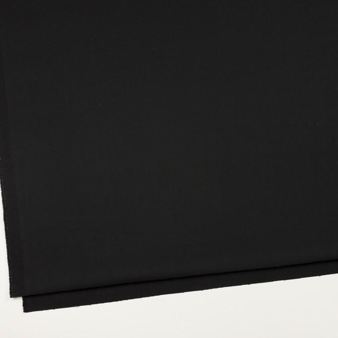 コットン&ポリウレタン×無地(ブラック)×サテンストレッチ_全2色_イタリア製 イメージ2
