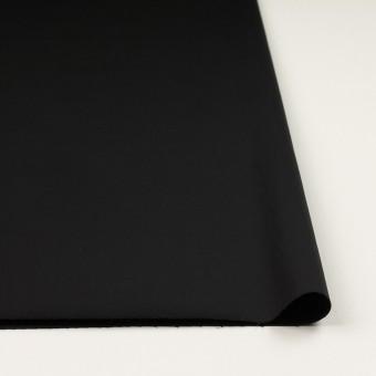 コットン&ポリウレタン×無地(ブラック)×サテンストレッチ_全2色_イタリア製 サムネイル3
